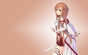 Wallpaper Sword Art Online, sword art online, sword, Asuna Yuuki