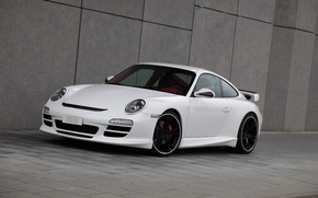 Wallpaper Porsche, TECHART, 911 Carrera S, wall