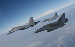 Wallpaper Dry, Mirage, Flight, The sky, Multipurpose, BBC, Clouds, 2000, Height, French, Dassault, Photo, Mirage, France, ...