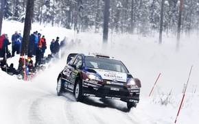 Picture Ford, Winter, Auto, Snow, Sport, Machine, Race, The hood, WRC, the front, Rally, Fiesta, Cold