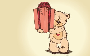 Wallpaper Teddy, bear, valentines day, teddy bear, gift