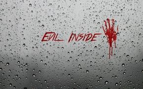 Picture blood, glass, wet, evil, evil inside
