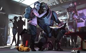 Wallpaper shepard, Mass Effect, Garrus Vakarian, turian, asari, Quarian, Liara T Soni, Tali'Zorah