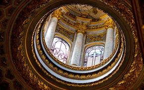 Picture Windows, Rome, Italy, columns, the dome, religion, the Basilica of San Luigi dei Francesi