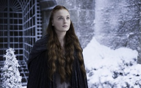 Picture actress, red, Game Of Thrones, Game of Thrones, Sophie Turner, Sansa Stark, Sophie Turner