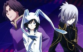 Picture hood, tie, guys, ears, art, military uniform, suzuhito age who said in, devil survivor, yamato …