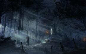 Picture Girl, Game, Tomb Raider, Lara Croft, Art, Game, 2013