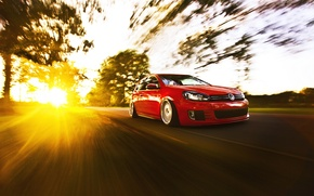 Picture tuning, in motion, volkswagen golf, sunlight, VW Golf