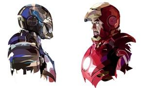 Wallpaper iron man, tony stark, marvel, mark 3, armor, comic, mark 2