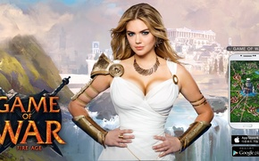Picture girl, Kate Upton, Game of war, fire age 5