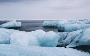 Picture ice, sea, ocean, rainy