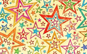 Picture background, stars, texture, Stars, colorful, style, texture, background, old