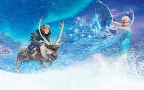 Picture Frozen, Walt Disney, Wide, Elsa, Animation Studios, Kristoff