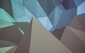 Picture abstraction, minimalism, minimal, abstract, blue, render, render, justandycat, maxon, ;ow poly