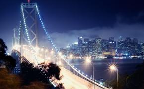 Picture night, San Francisco, california, CA, night, san francisco, bay bridge