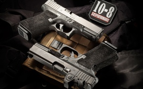 Picture weapons, guns, pair, Glock 19, self-loading