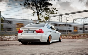Picture BMW, BMW, grey, tuning, E90, The 3 series, 320d