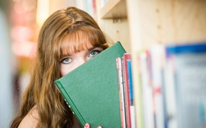 Picture look, girl, book