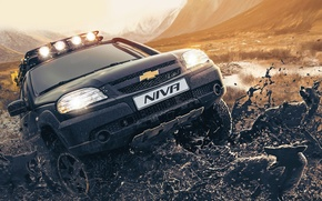 Picture dirt, SUV, Niva, Chevy