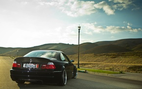 Picture tuning, BMW, BMW, black, black, tuning, E46