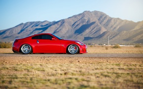 Picture car, tuning, red, Nissan, rechange, nissan 350z