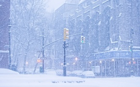 """Picture winter, the city, New York, Snowfall, """"Johnson"""""""