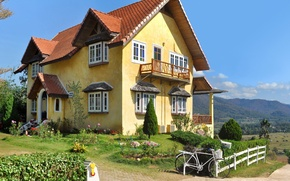 Picture the city, house, photo, Thailand, mansion, Mae Hong Son Province