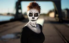 Picture portrait, Halloween, makeup, Martin Kühn