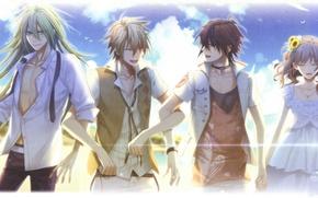 Picture summer, the sky, clouds, joy, amnesia, shin, amnesia, toma, heroine, ukyo, by mai hanamura