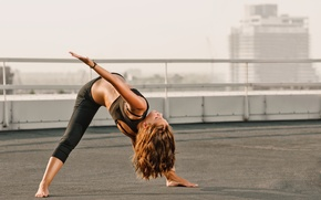 Wallpaper sportswear, stretching exercises, yoga pose