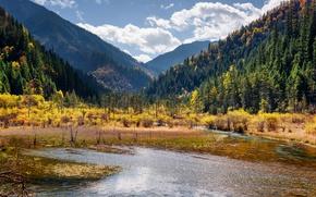 Picture Nature, Mountains, Lake, Forest, China, Park, Landscape, Jiuzhai Valley National Park