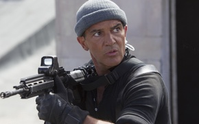 Picture weapons, hat, frame, Antonio Banderas, Antonio Banderas, The Expendables 3, The expendables 3, Galgo