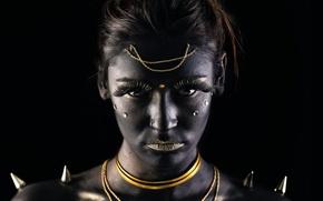 Picture girl, makeup, warrior, makeup