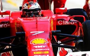 Picture Helmet, Ferrari, Formula 1, Kimi Raikkonen Also, Pearls, SF15T