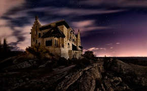 Picture night, stars, Spain, The Old Mansion, the old mansion