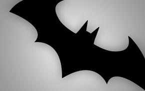 Picture grey, sign, black, Batman, mouse, emblem, batmen