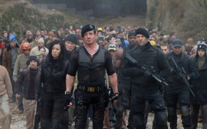 Picture Maggie, Sylvester Stallone, Randy Couture, Randy Couture, Jason Statham, Sylvester Stallone, Jason Statham, The Expendables ...