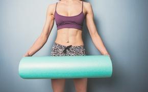 Wallpaper woman, yoga, preparations