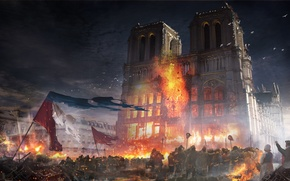 Picture the city, the building, Paris, Our Lady, Assassins creed Unity, France