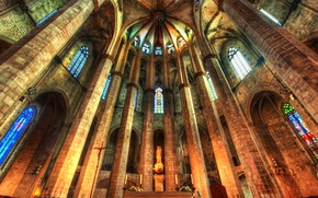 Picture hdr, Church, Cathedral, stained glass, religion, the nave