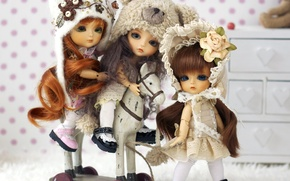Picture toys, doll, horse