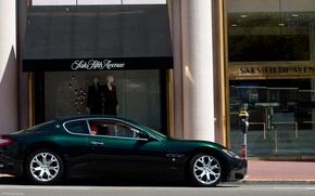 Picture green, Maserati, green, shop, Maserati