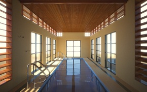 Picture room, the building, Water, pool