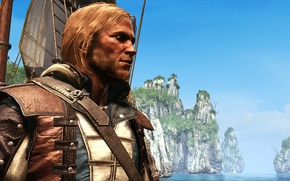 Picture The sky, Ship, Pirate, Assassin, Edward Kenway, Assassin`s Creed IV: Black Flag