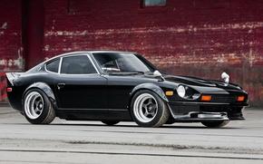 Picture wheels, black, datsun, 280, hrome