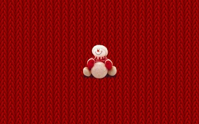 Picture snowman, minimalism, winter, krismas, New Year, Christmas, sweater, New year, Christmas, binding