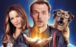 Picture cinema, Kate Beckinsale, light, sky, woman, science fiction, dog, stars, man, movie, face, hand, glasses, …