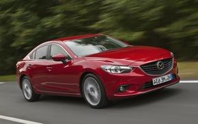 Picture red, speed, Auto, Mazda, sedan