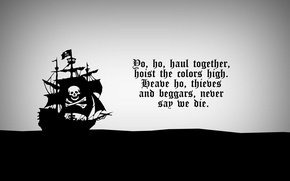 Picture pirates of the Caribbean, song pirates, hoist the colors