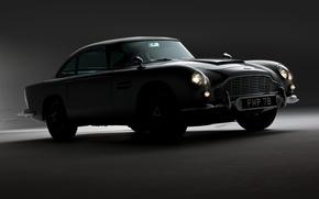 Picture grey, Aston Martin, shadow, classic, 1964, DB5, the James bond car